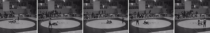 Random images from Championship, a short film by Stephen Broomer.