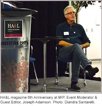 HA&L magazine 6th Anniversary at MIP, Event Moderator &  Guest Editor, Joseph Adamson. Photo: Diandra Santarelli.