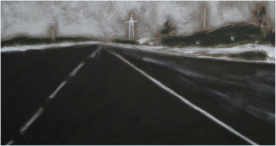 Paintings by Charles Meanwell: Winter Road Conditions by Stuart Reid