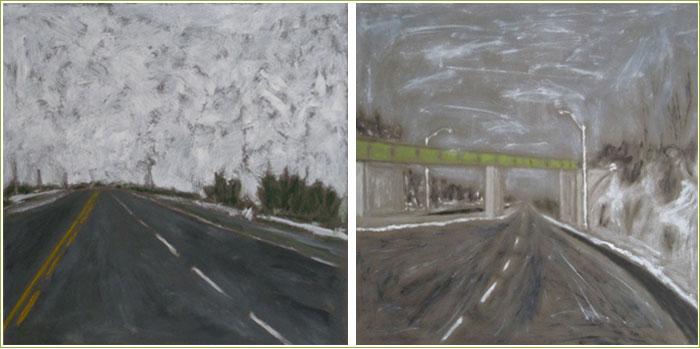 Highway 6 & Railbridge by Charles Meanwell