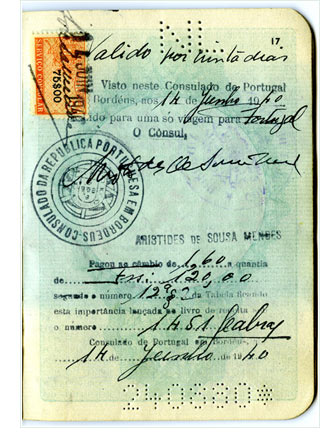 Passport of Rose Frisch