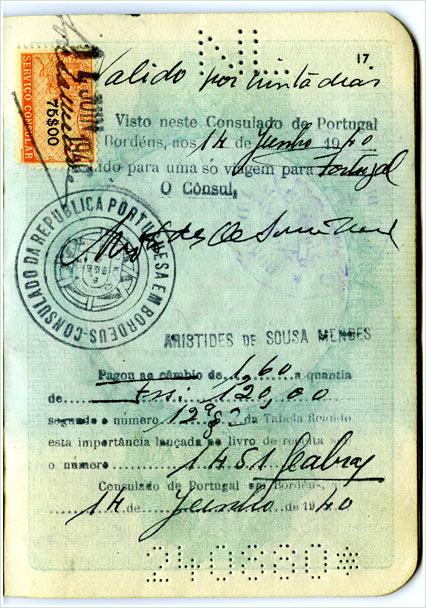 Passport of Rose Frisch