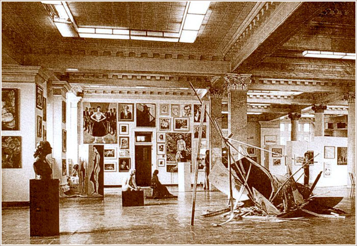 """The Inc's big """"HAMILTON NOW"""" show of contemporary Hamilton area artists at the old Carnegie Library, 1986."""