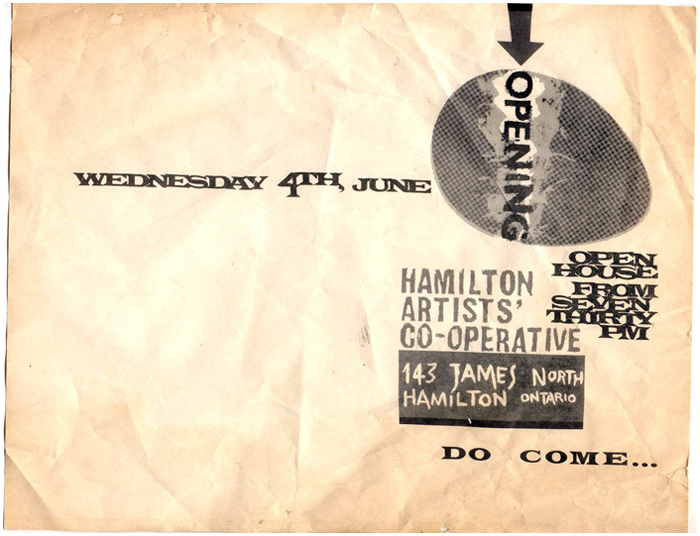 Flyer announcing the 1975 opening of the Co-op (later called the Inc)