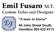 Emil Fusaro M.T. Custom Tailor and Designer for Ladies and Gentlemen