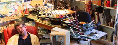 Portfolio III: Artists in their Studios by Jeff Tessier. Artist Philip Grant in his studio.