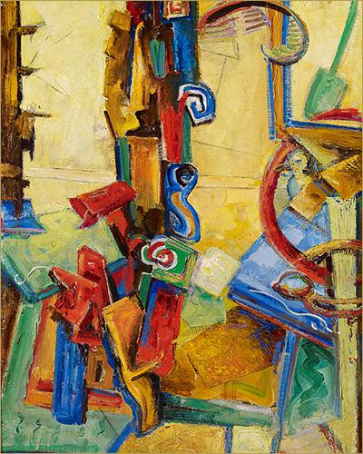 Hortense Gordon: Hamilton's Avant-Garde Pioneer by Earl Miller * Detail: Abstract Forms, Studio Interior by Hortense Gordon, courtesy of the Art Gallery of Hamilton