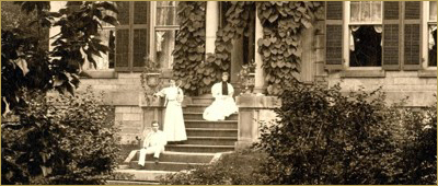All that is Left: 18 Poems on the 50th Anniversary of Whitehern Museum by Elizabeth Tessier. Photo courtesy of Whitehern Museum. Photo of members of the family on the front steps of the house.
