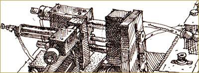 FACTORY TIME by Maxwell Kennel. Drawing detail: Machine by Gord Pullar.
