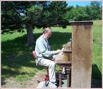 Ed Lemond at the piano