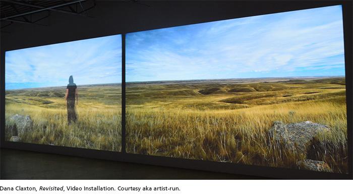 Dana Claxton, Revisited, Video Installation. Courtesy aka artist-run.