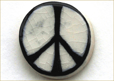 Bertrand Russell: Remembering a Public Intellectual for Our Time by Henry A. Giroux • Image: Original ceramic badge made in 1958 by Eric Austen for the Campaign for Nuclear Disarmament • photograph by Gea Jones.
