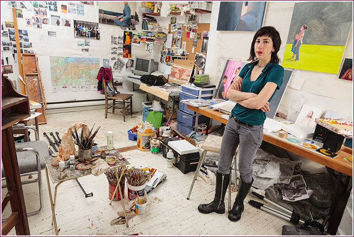 Christina Sealey photographed in her studio, 2010, Hamilton, Ontario. Photograph: Jeff Tessier.