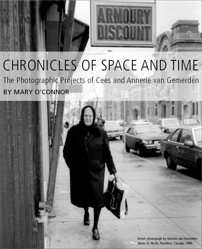 Chronicles of Space and Time: The Photographic Projects of Cees and Annerie van Gemerden • by Mary O'Connor • Image detail: photograph by Annerie van Gemerden James St. North, Hamilton, Canada, 1984.