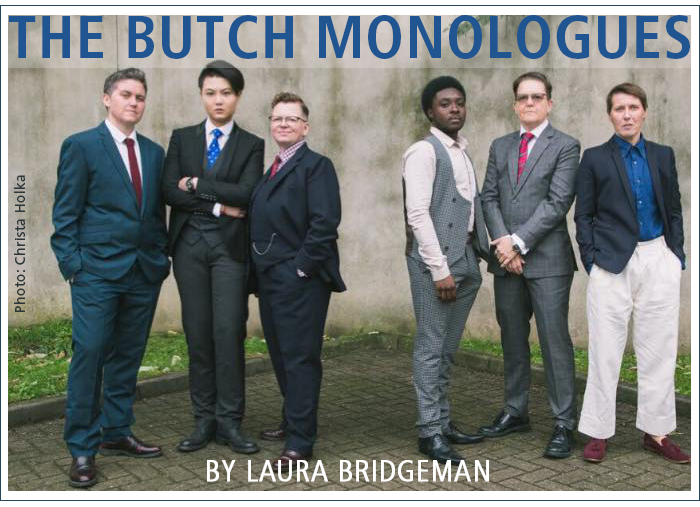 The Butch Monologues by Laura Bridgeman. Photo: Christa Holka.
