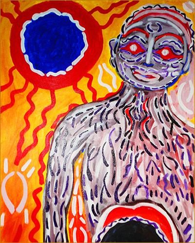 Portfolio: paintings by bill bissett. Image detail: mattawa dreem. Photo by Michael Cobb.