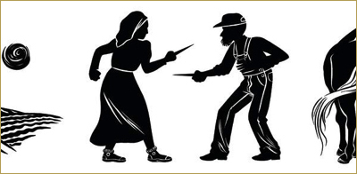 Secular Mennonites and the Violence of Pacifism • Miriam Toews at McMaster by Maxwell Kennel * Image detail: Woodcut from the Canadian hardcover edition of the book Women Talking by Miriam Toews