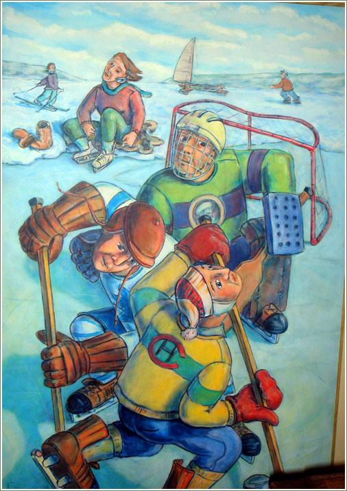 Conrad Furey, Hockey Game
