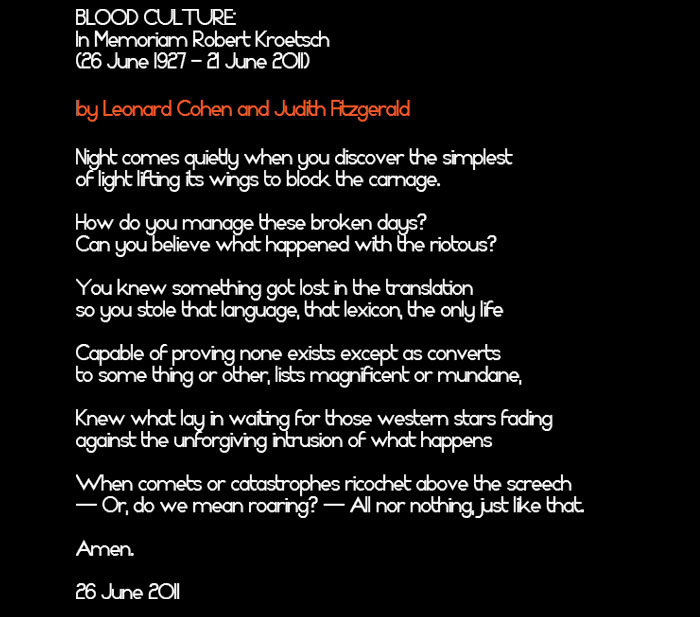 Judith Fitzgerald blood culture